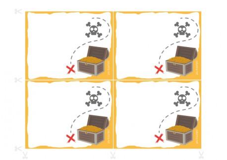 Convites para festas de aniversário para imprimir - O tesouro dos piratas