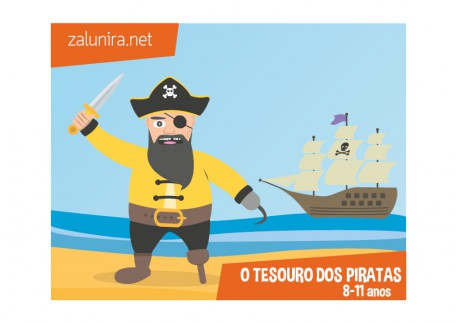 O tesouro dos piratas - 8-11 anos