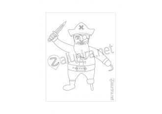 Desenhos para colorir - O tesouro dos piratas