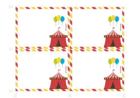 Convites para festas de aniversário para imprimir - Sequestro no circo